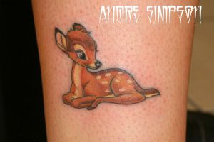 Bambi tattoo by ERASOTRON