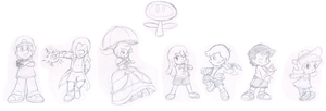 Commish: Lil' Smashers by Nintendrawer