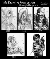 Progression of a Drawing by jcarignan443