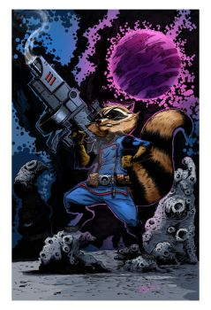 Rocket Racoon Colored by irongiant775