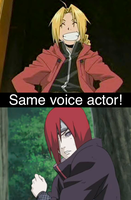Same voice actor 57 by GokuandSonic707