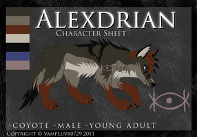 Character Sheet -Alexdrian- by VexVamp