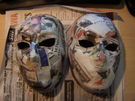 WIP Masks - Kage and Jack by GingaAkam