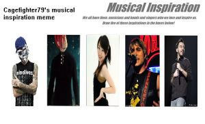 My musical inspiration meme by Cagefighter79