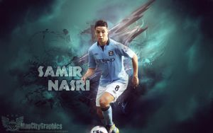 Samir Nasri Wallpaper by ManCityGraphics
