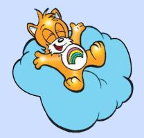 Miles Tails Prower Care Bear Universe by gato303co