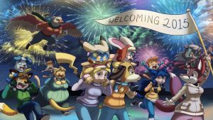 Welcoming 2015 by CyberPikachu