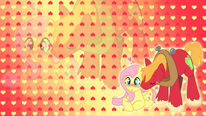 Fluttershy x Big Macintosh Wallpaper by BlueDragonHans