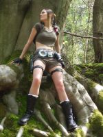Lara in the woods by BunniKez