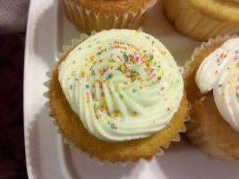 Confetti Cupcakes Close Up by wickedwitchinc