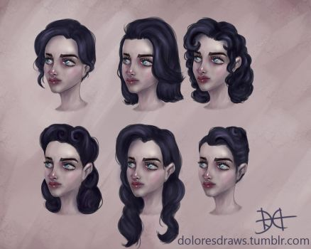 Mirabelle Hairstyles by doloresdraws