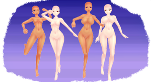 MMD HK 2 New skin textures by MMD3DCGParts