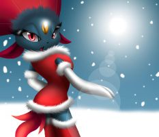 Christmas Weavile by PrettyWeasels