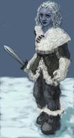 Tanith, ice gnome swordmage by TheCybil