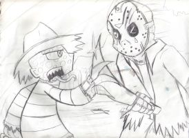 Freddy vs Jason by xEvilxPenguinxNinjax