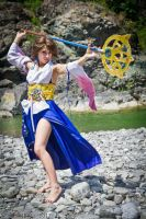 The sendin dance of yuna at Kilika by ange-lady-yunashe
