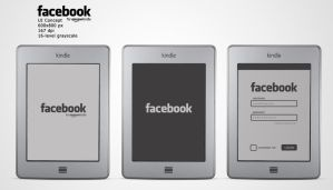 Facebook for Amazon Kindle UI Concept by michalkosecki