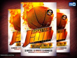 Basketball Flyer Template by Industrykidz
