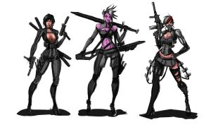 Zombie Apocalypse girls by bogusbadge