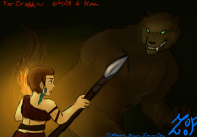 Crrsh Barbarian and Werewolf by ZannaCox