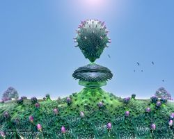 ALIEN CACTUSLAND I by love1008