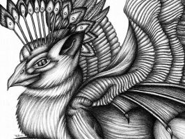 Griffin closeup - no. 2 pencil by machine-guts