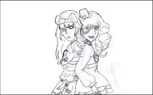 Unfinished Lolita Twins by Queenof-The-Darkness