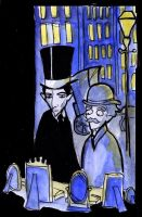 Holmes and Watson - display window by elina-elsu