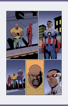 Daredevil Cap and Luke Cage pg 01 by NelsonBlakeII