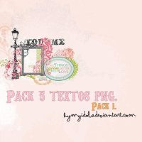 PACK 5 TEXTOS PNG. by heymyidols