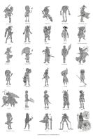 30 Links from Zelda by JaredSalmond