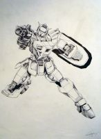 Gundam design by Drawer888