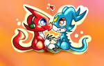 Shoutmon and Veemon by NewMoon-Dragoness