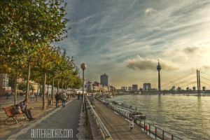 Duesseldorf Sunset HDR by ButteredCats