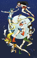 Sailor Scouts by fooshigi