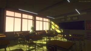Blender3D Japanese Classroom Color 2 by mclelun