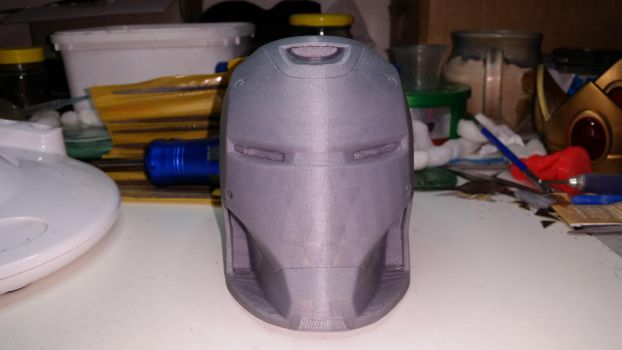 Iron Man mark 37 helmet 1/2 scale by Cyber-Hand