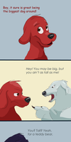 Clifford the Not-So Big Red Dog by Bedupolker