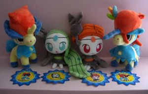 Keldeo and Meloetta Pokedolls by Fishlover
