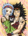 Gajeel, Levy and Lily - Sporty Bandanas by GhostTitan