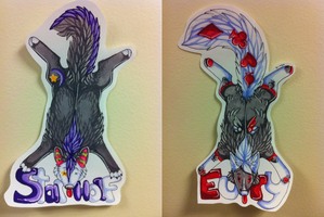 Two pelt badges by nightspiritwing