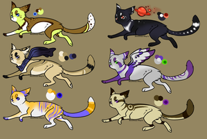 Cat adoptables 3 (closed) by Moonbeams-Adopts