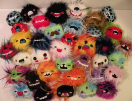 FORTY newborn monsters by loveandasandwich