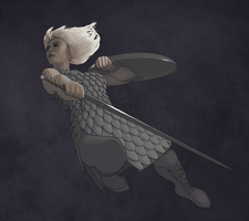 Nethack valkyrie by soli-deo-gloria