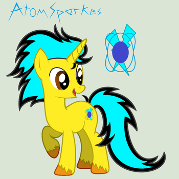 Atom Sparkes' reference sheet (redesigned) #1 by AtomSparkes