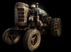 UDK Tractor Lit by Blvd--Nights