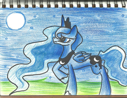 MLP: Princess Luna COLORED by ModernLisart