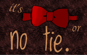 Bow Tie or No Tie by DoctorWhoLuv