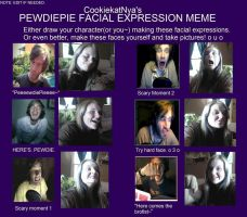 Pewdiepie Facial Expression Meme by Horse-LuverBB