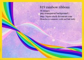 819 Rainbow Ribbons by Tigers-stock